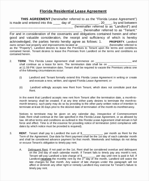 Printable Residential Lease Agreement 13 Free Word Pdf