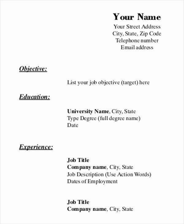 Printable Resume Template 35 Free Word Pdf Documents