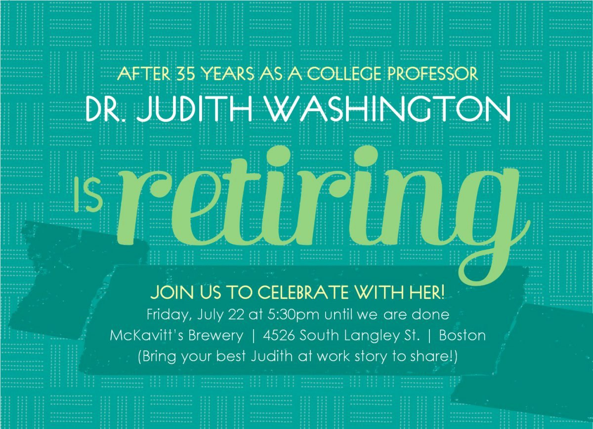 Printable Retirement Invitations Free