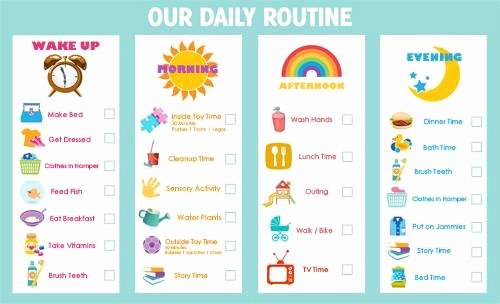 Printable Routine Charts for toddlers Daily Routine Charts