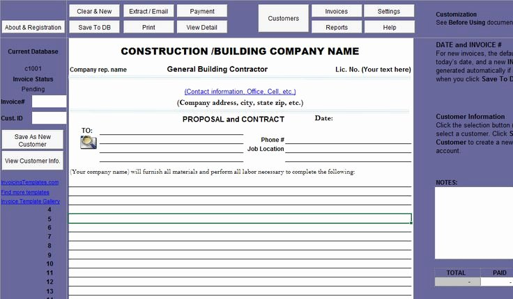 Printable Sample Construction Proposal Template form