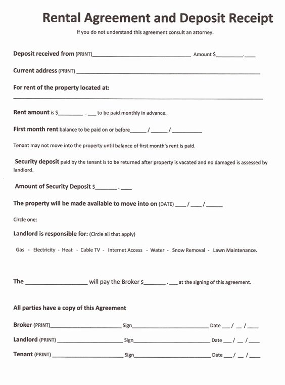 Printable Sample Rent Agreement form form