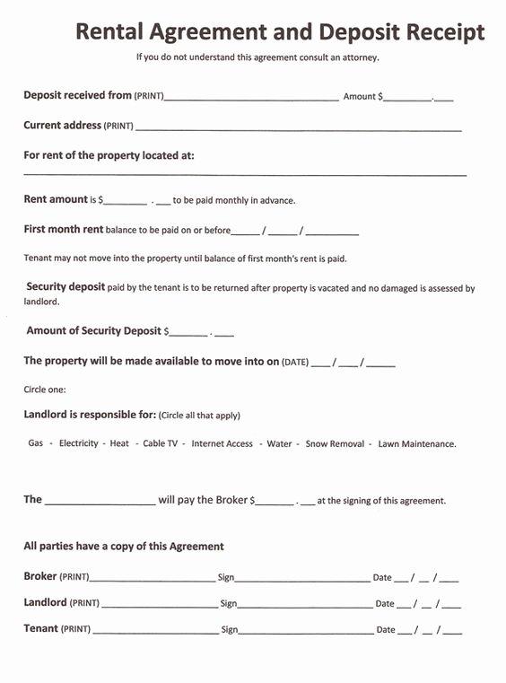 Printable Sample Rent Agreement form form