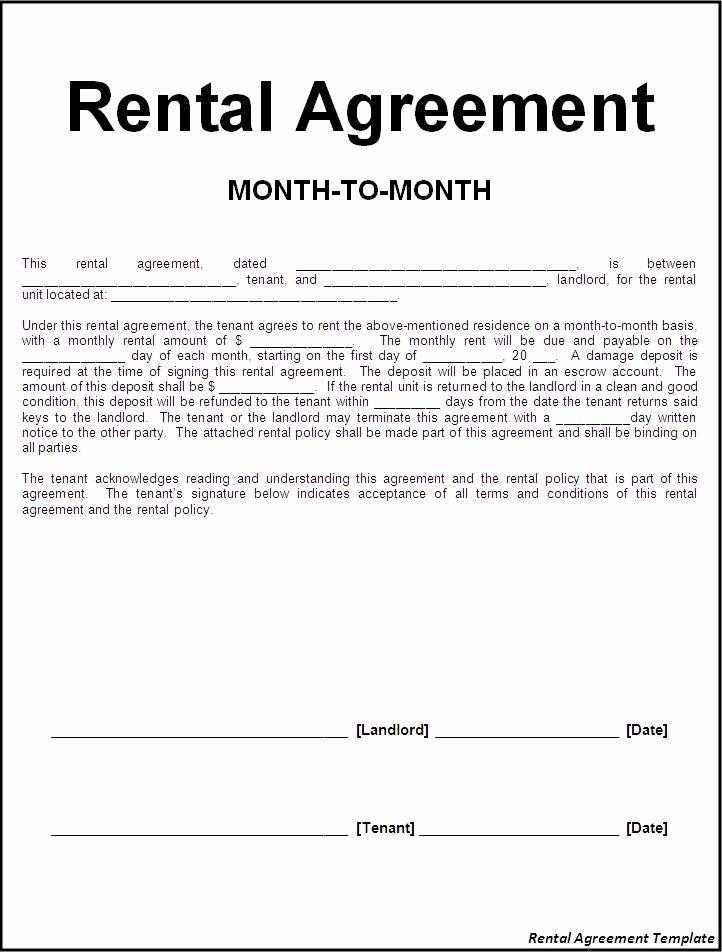 Printable Sample Rental Lease Agreement Templates Free