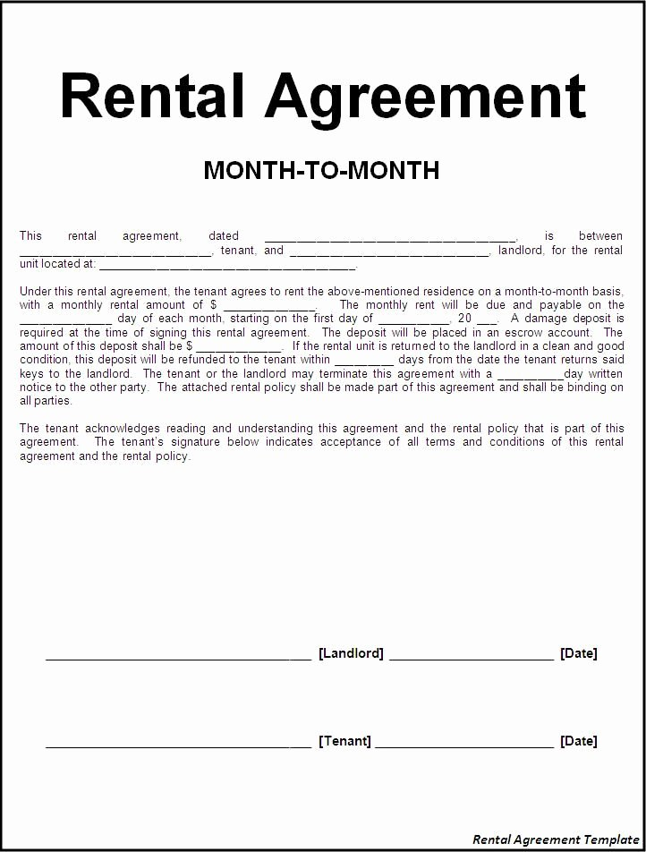 Printable Sample Rental Lease Agreement Templates Free