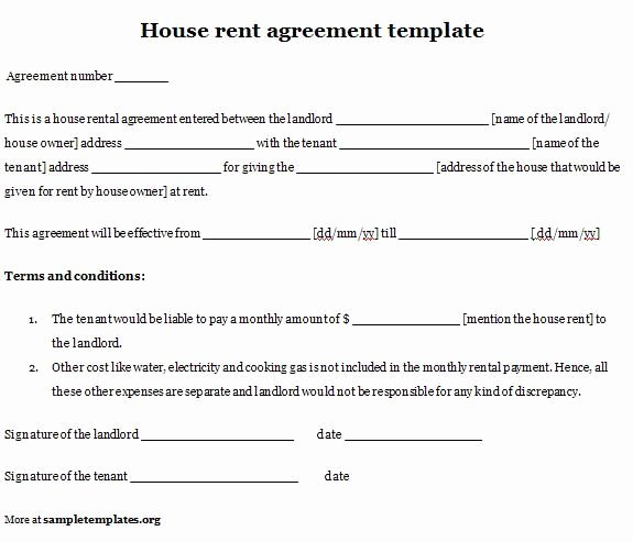 Printable Sample Simple Room Rental Agreement form