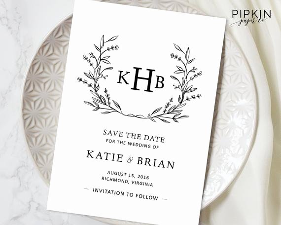 Printable Save the Date Template Digital Download for Word