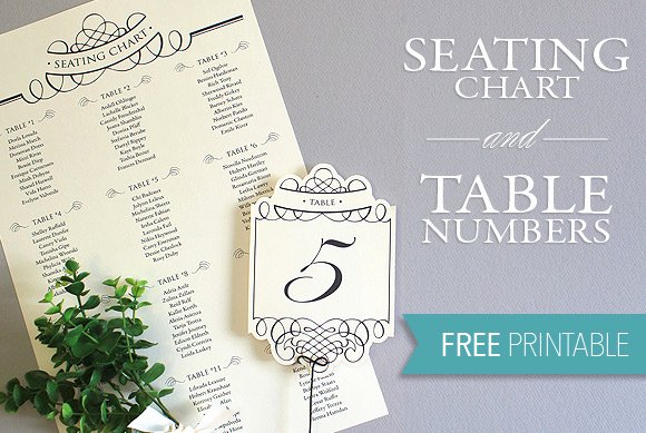 Printable Seating Chart & Table Number Template
