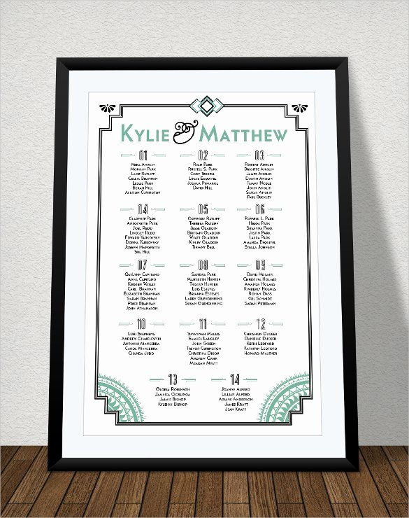 printable seating chart template for wedding printable seating chart template for wedding11