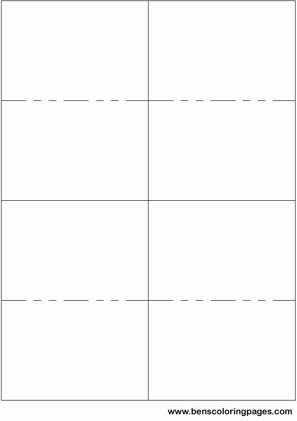 Printable Small Flashcard Template