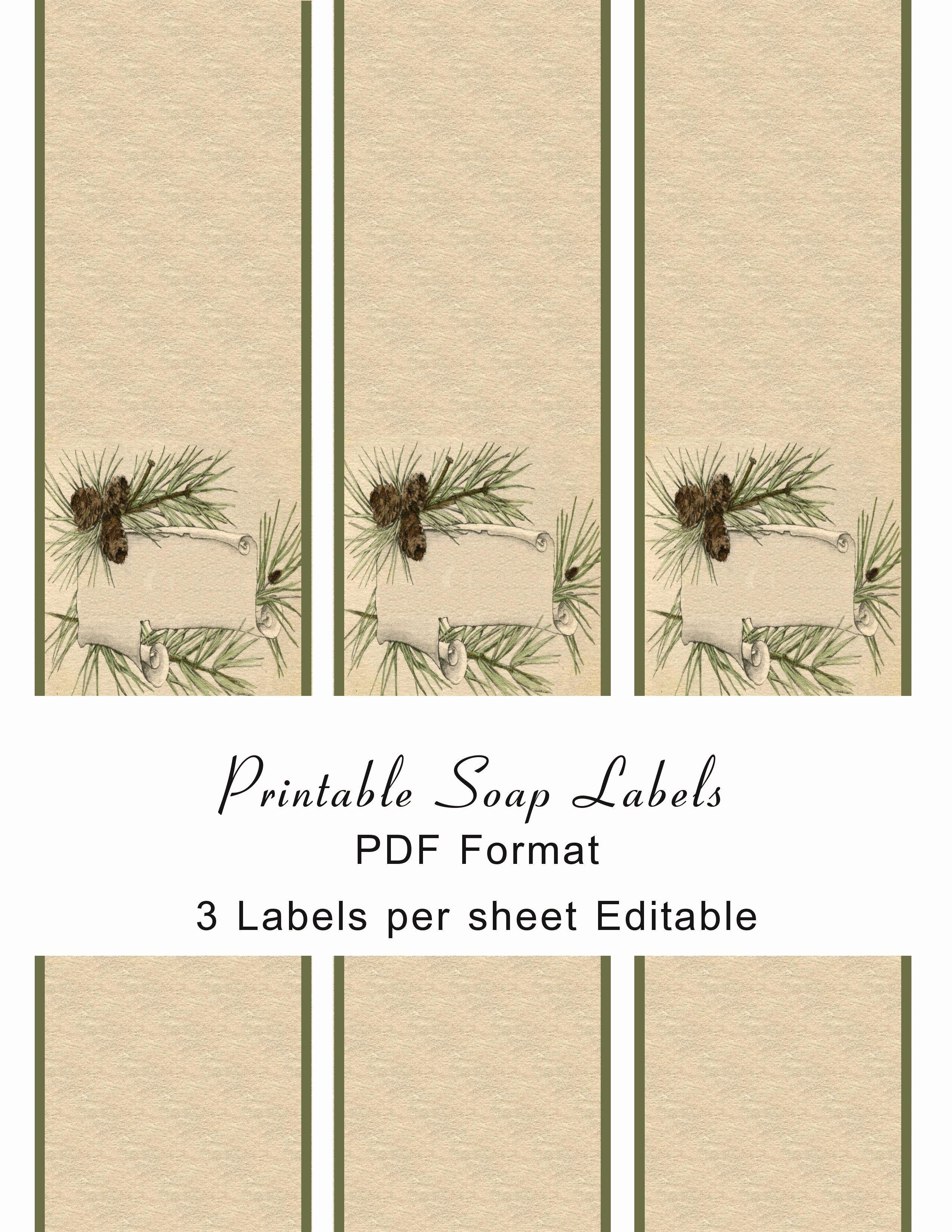 Printable soap Labels soap Pinterest