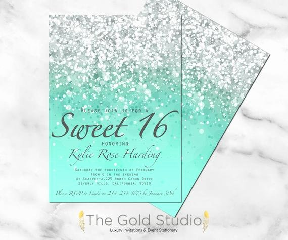 graphic relating to Printable Sweet 16 Invitations known as Cute 16 Birthday Social gathering Invites Latter Case in point Template