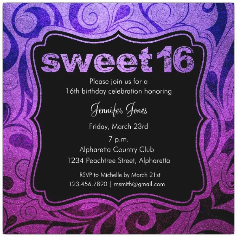Printable Sweet 16 Party Invitation – orderecigsjuicefo