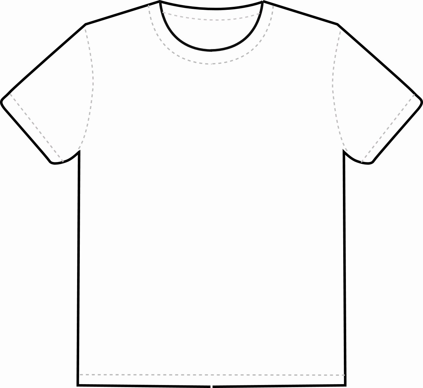 Printable T Shirt Template