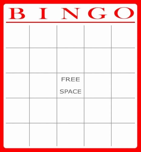 Printable Templates Printable Bingo Cards