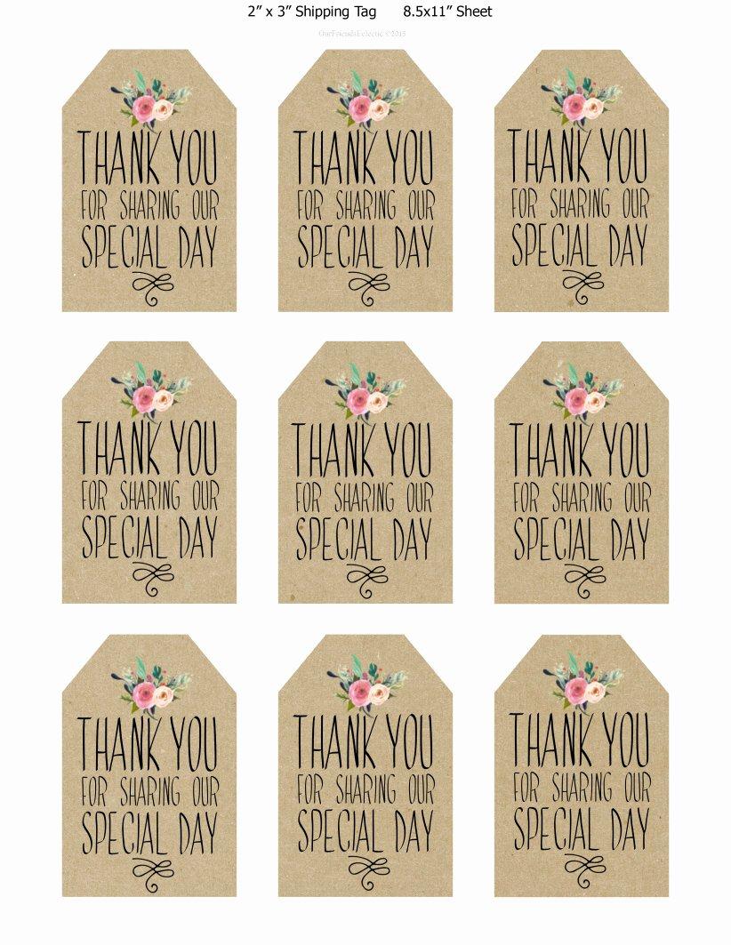 Printable Thank You Tags Printable 360 Degree