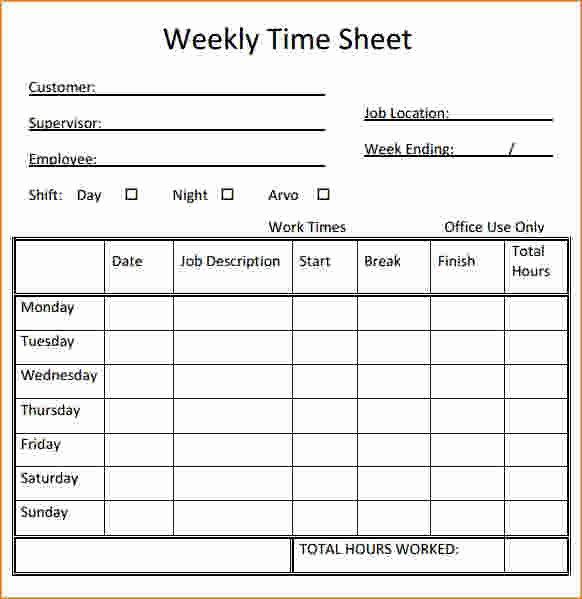 Printable Timesheet Printable 360 Degree