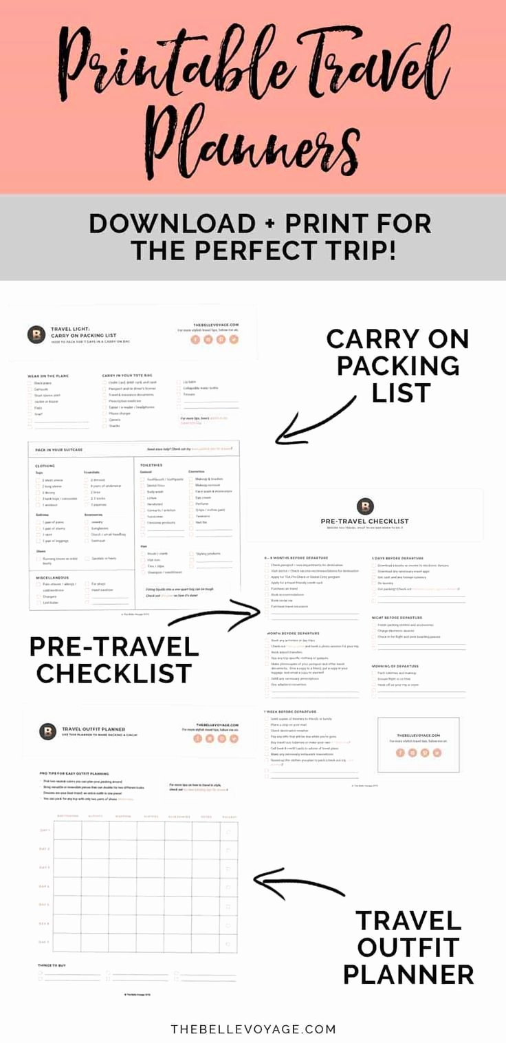 Printable Ultimate Packing Checklist for Travel