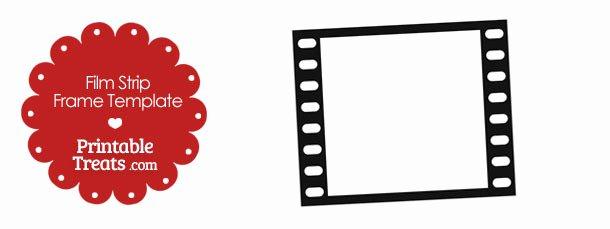 Printable Vertical Strip Frame Template — Printable