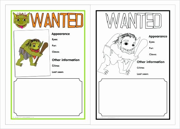 Printable Wanted Posters Blank Poster Free Template