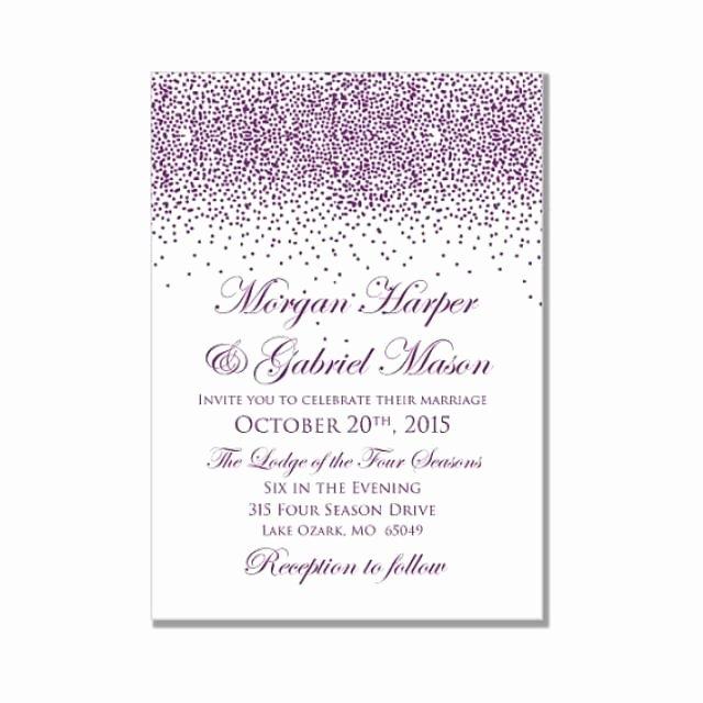 Printable Wedding Invitation Purple Wedding Purple