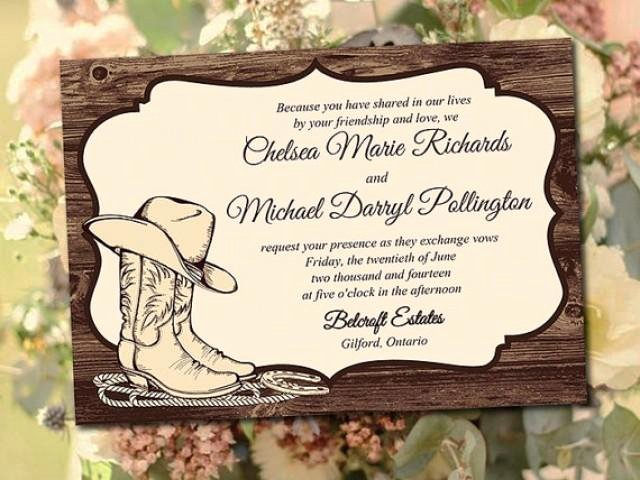"Printable Wedding Invitation Template ""country Western"