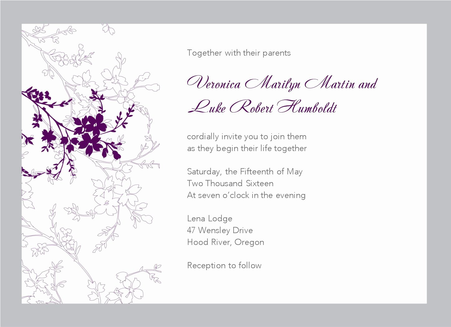 Printable Wedding Invitation Templates and Templates