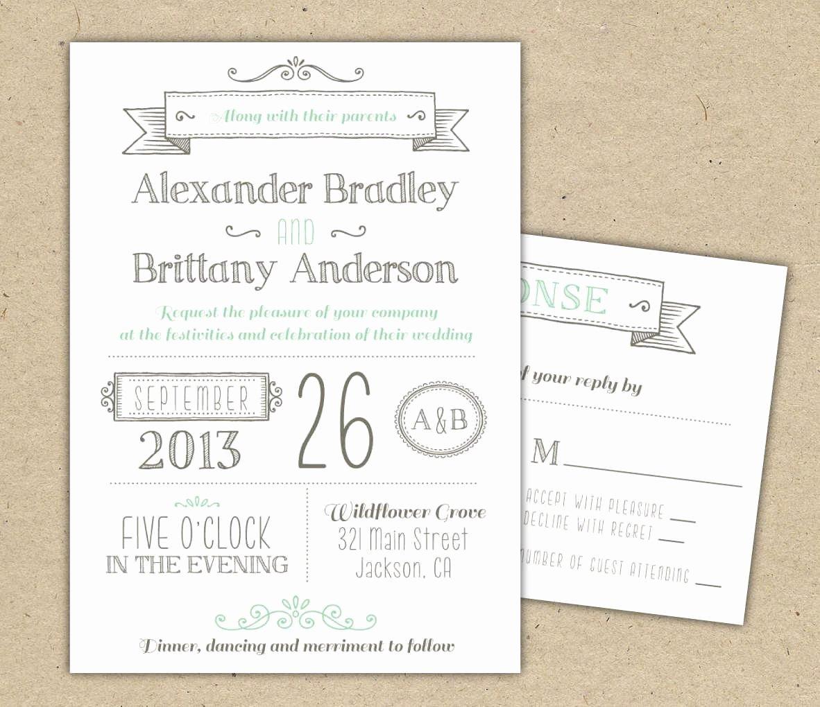 Printable Wedding Invitation Templates Free Printable