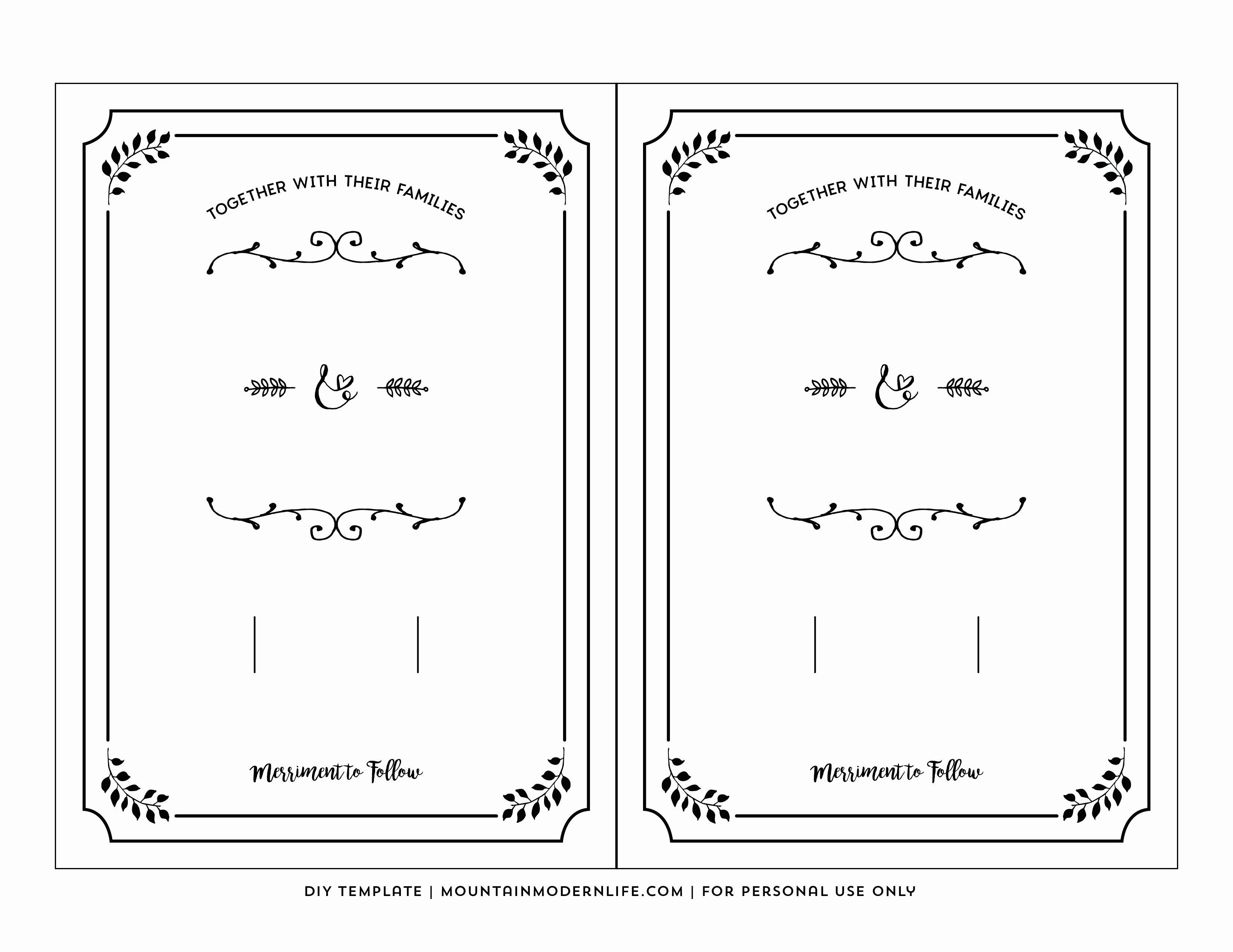 Printable Wedding Invite Templates