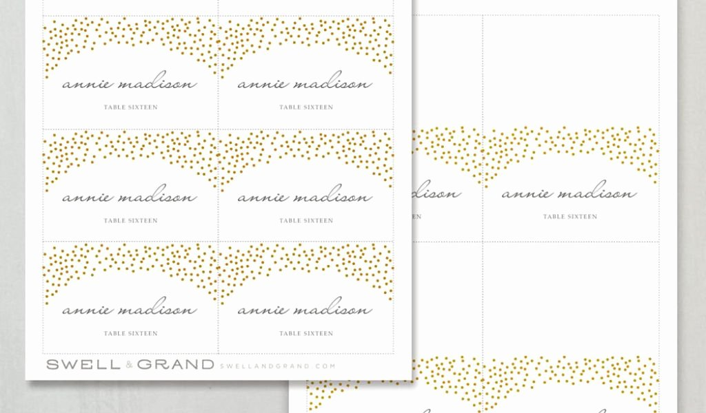 Printable Wedding Place Cards Luxury Printable Place Card