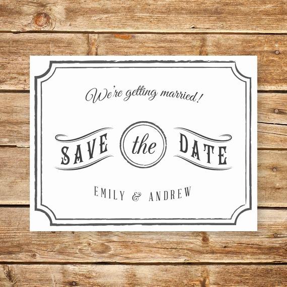 Printable Wedding Postcard Save the Date Card Template