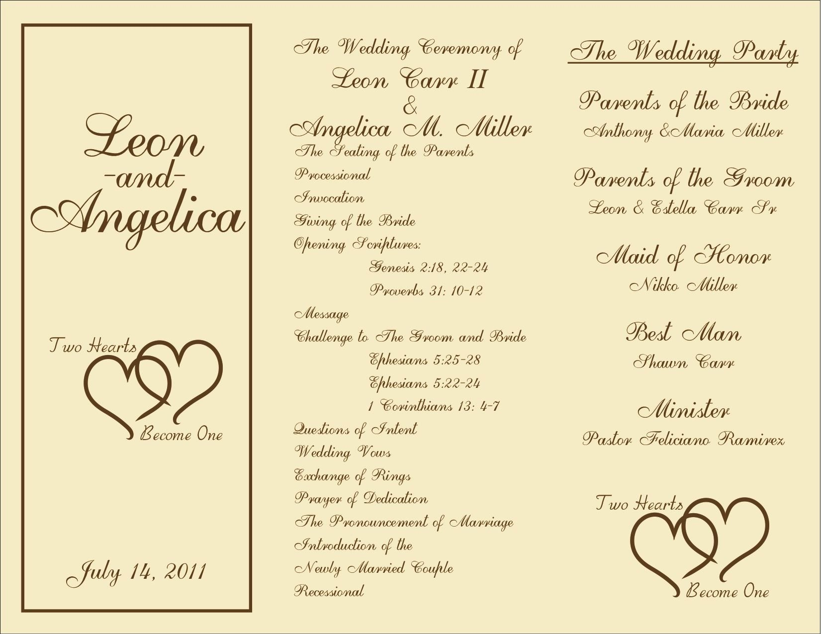 Printable Wedding Programs On Pinterest