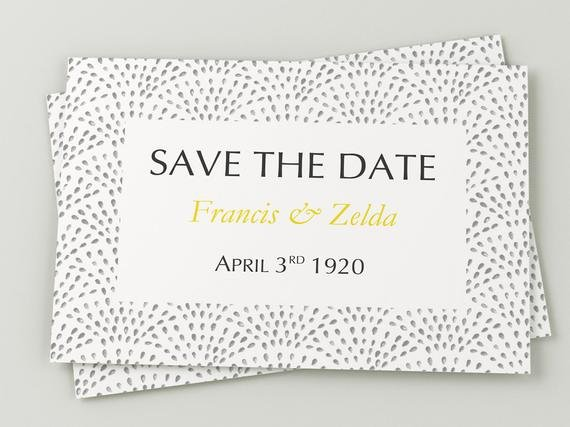 Printable Wedding Save the Date Download by
