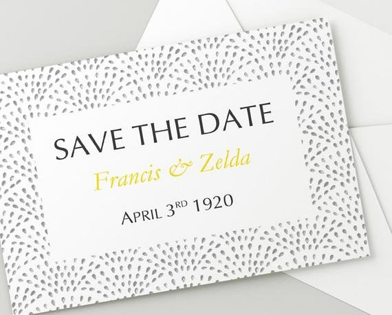 Printable Wedding Save the Date Download Fountain