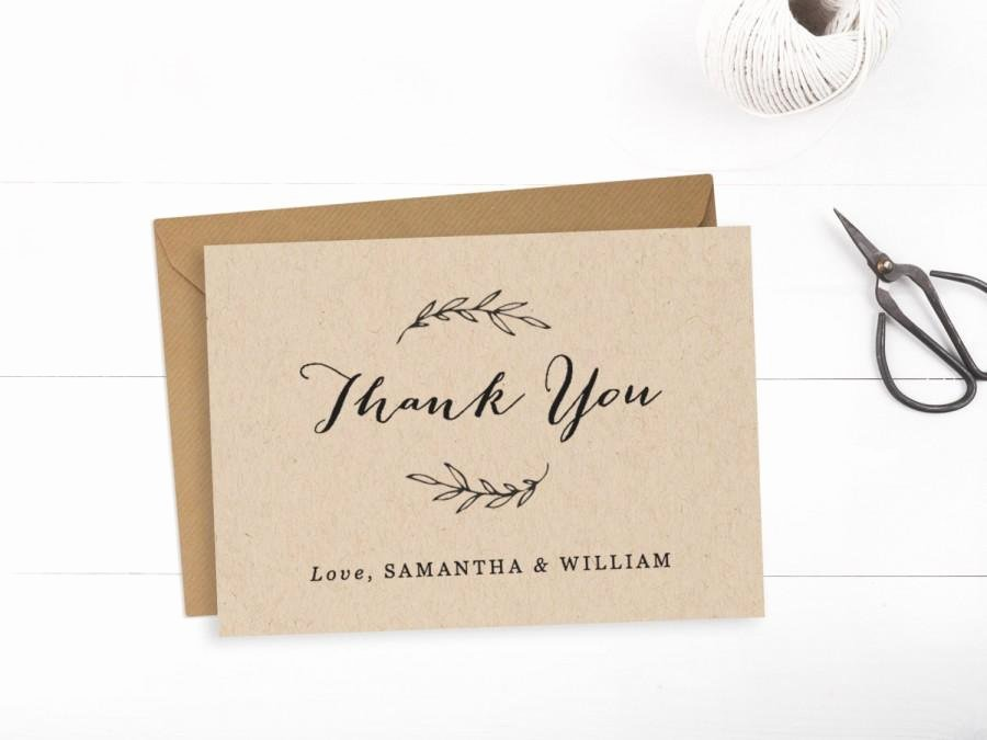 Printable Wedding Thank You Card Template Editable Text