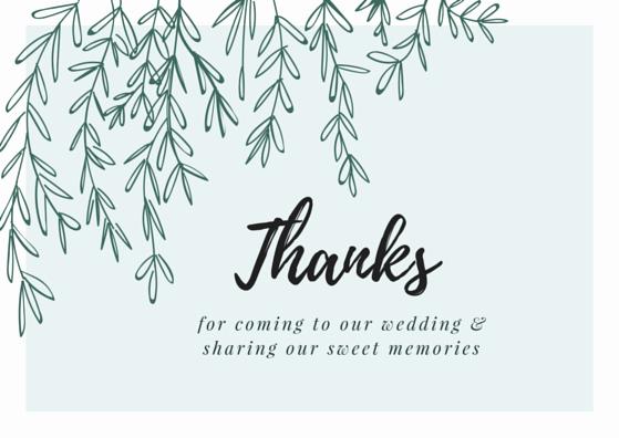 Printable Wedding Thank You Cards