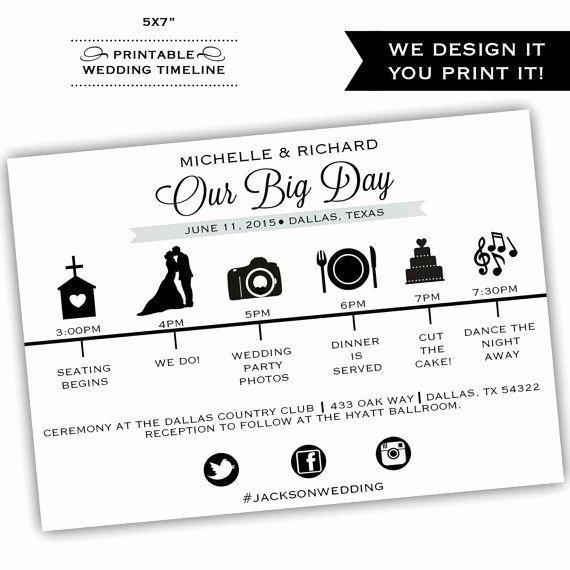 Printable Wedding Timeline Printable by Classyprints Line