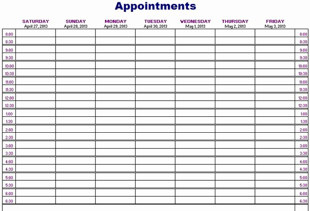Printable Weekly Appointment Planner 101 Printables
