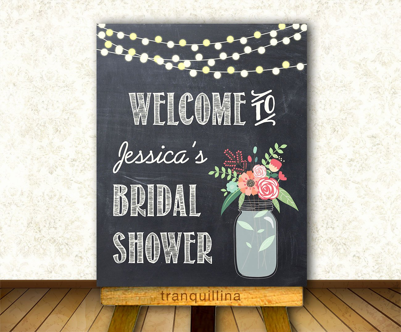 Printable Wel E Sign Bridal Shower Wel E Sign Wedding