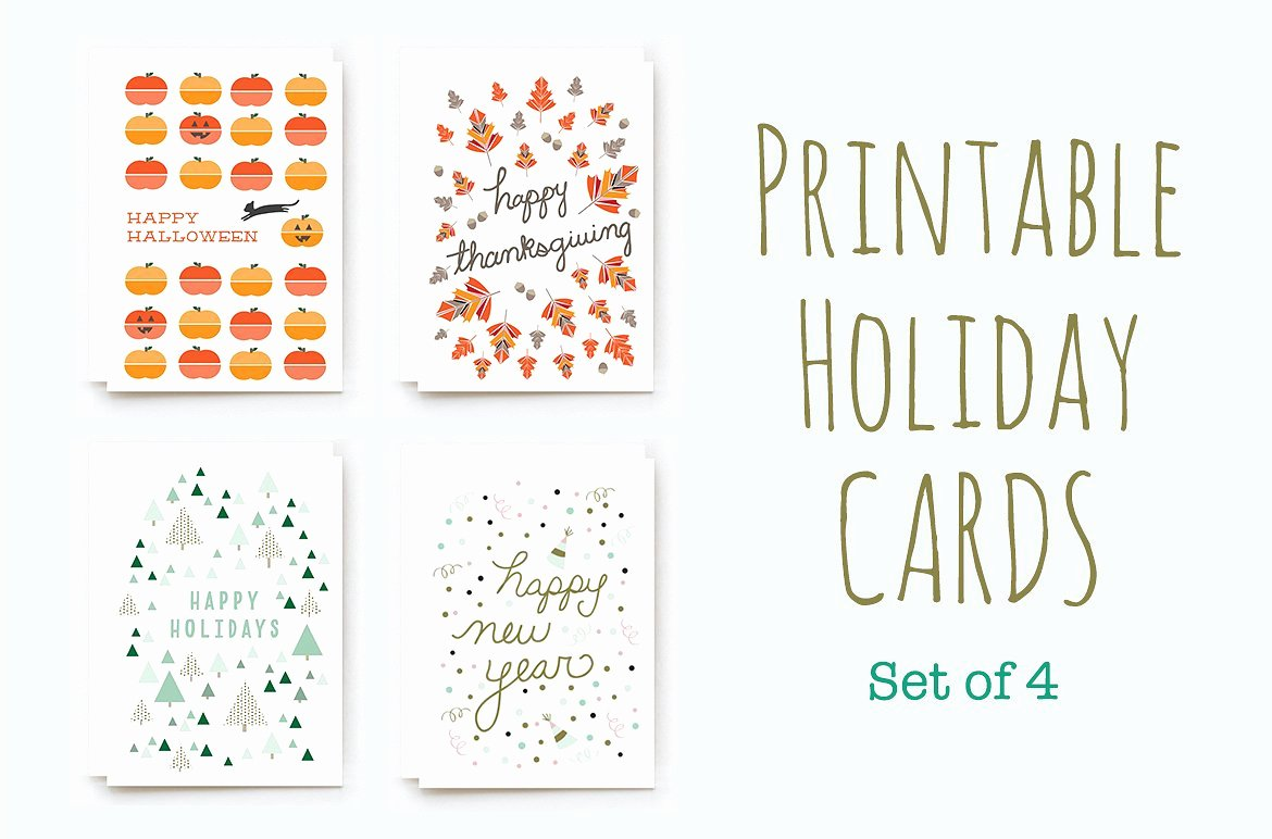 Printable Winter Holiday Cards Card Templates Creative