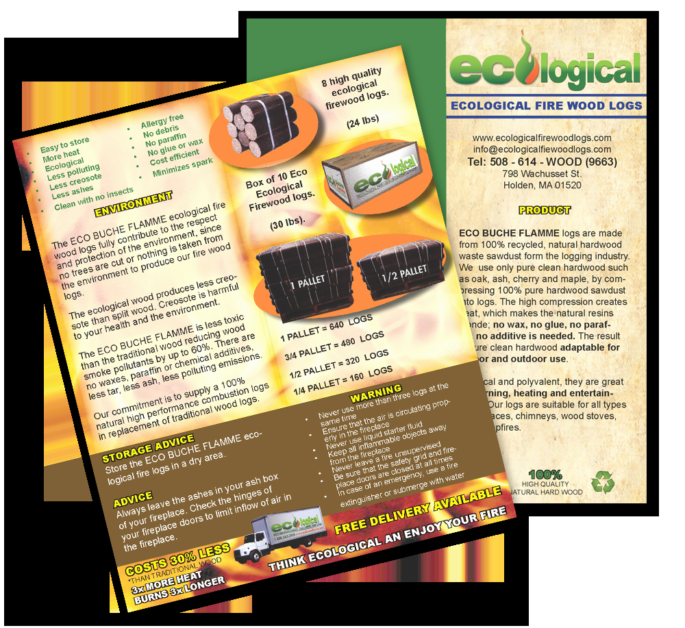 Printed Color Brochures Product Sell Sheets and Sales