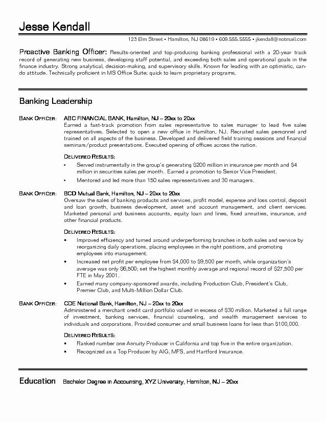 Private Banking Relationship Manager Cv Sample – Job