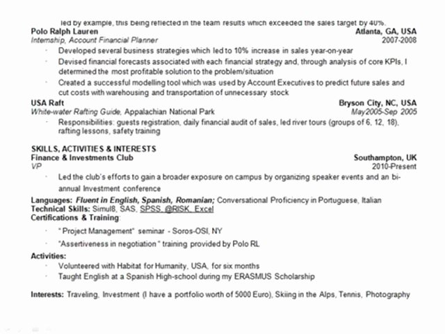 Private Equity Analyst Resume Samples Latter Example Template
