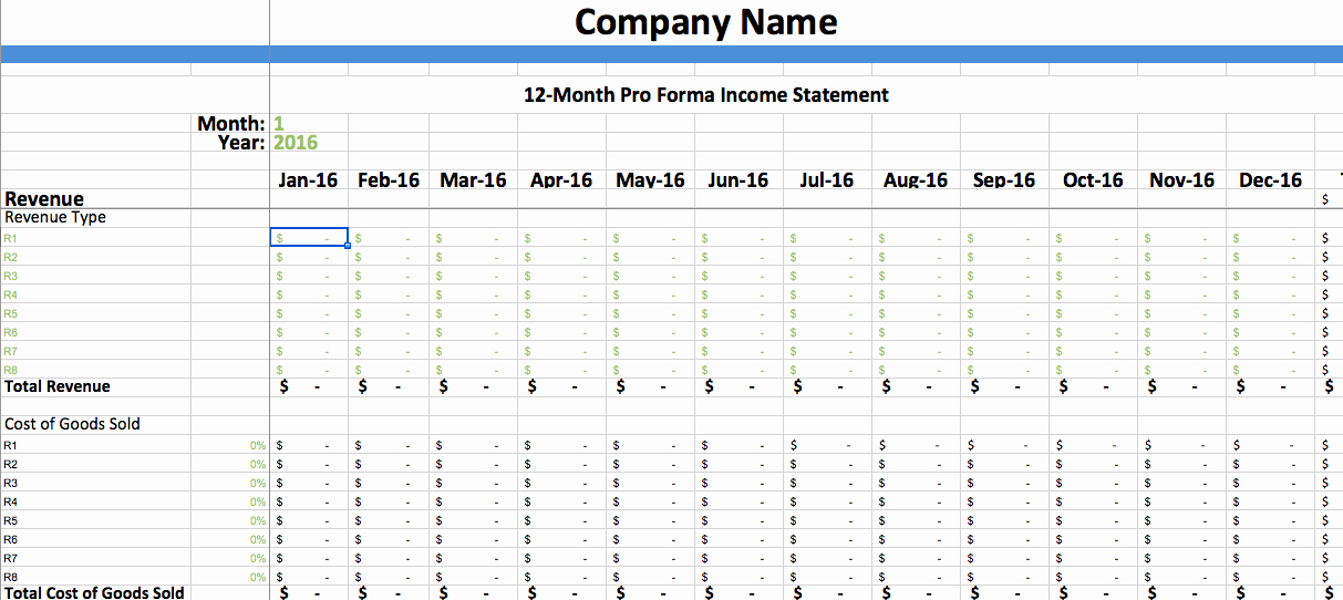 Pro forma In E Statement Template – Dumbing It Down