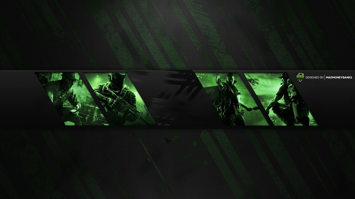 Pro Gaming Channel Banner Template Panels