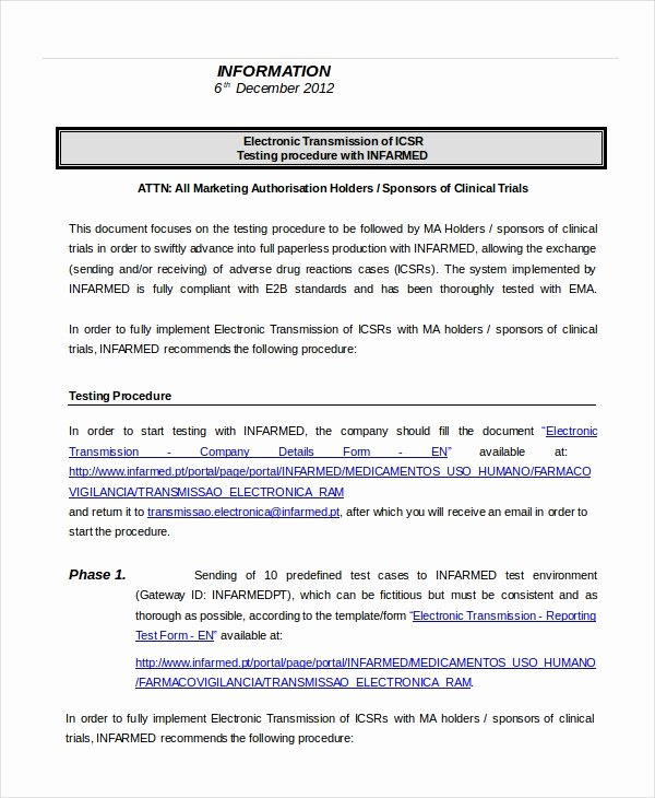 Procedure Template 8 Free Word Documents Download