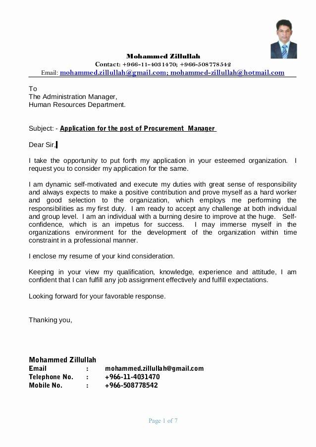 Procurement Manager Resume