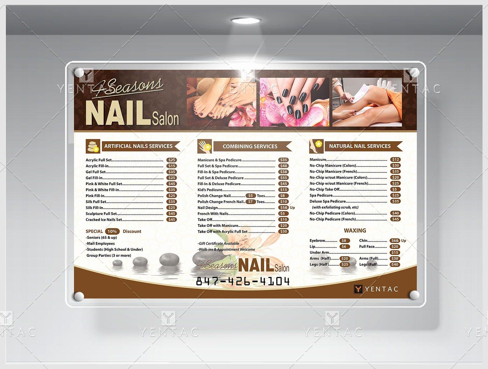 Product 5100 4 Seasons Nail Salon Price List Yentac