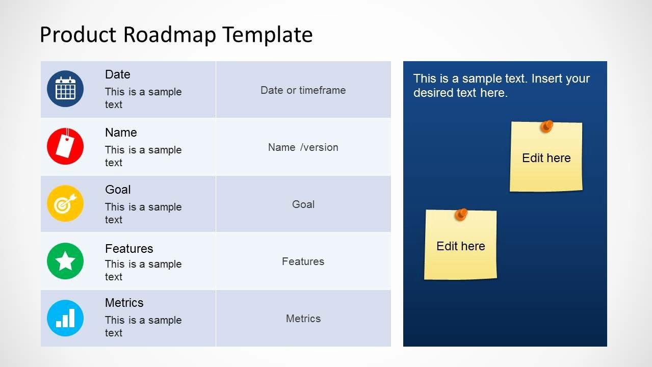 Product Roadmap Template for Powerpoint Slidemodel