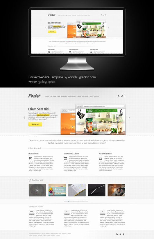 Product Website Template Psd Free Graphics